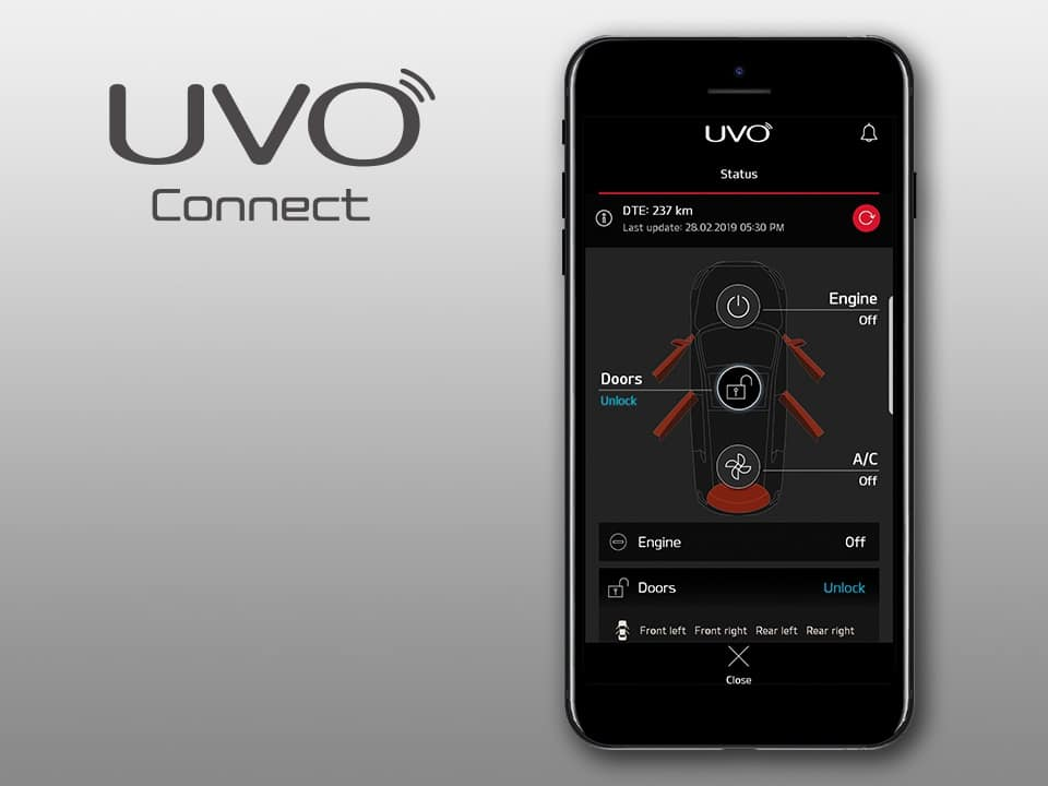 kia ceed gt UVO connected services